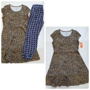 Animal print dress & jogger pants girl's bundle si